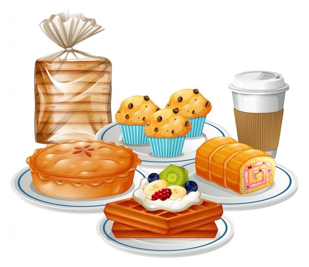 Set frühstück essen