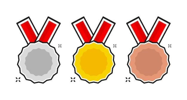 Set für dekorationsdesign goldene metallnummertop eine nummer designsieger goldener medaillenpreis