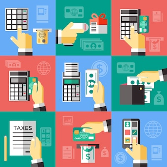 Set für elektronische finanzoperationen