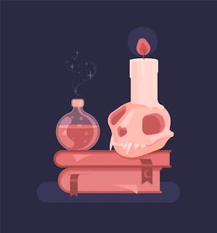 Set für hexen magisches ritual. hexerei