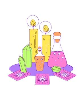 Set für hexen magisches ritual