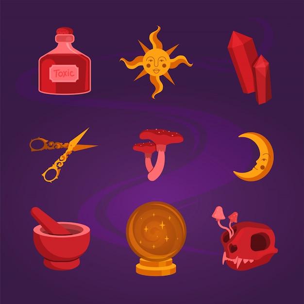 Set für magische hexen.
