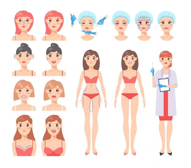 Schlankere Gewichtsverlustflecken in der Taille