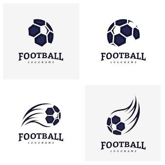 Set Fußball Fußball Abzeichen Logo Design Templates. Identität des Sportteams