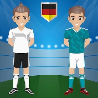 Set Fußball / Fußball Supporter / Fans der DEUTSCHLAND Nationalmannschaft