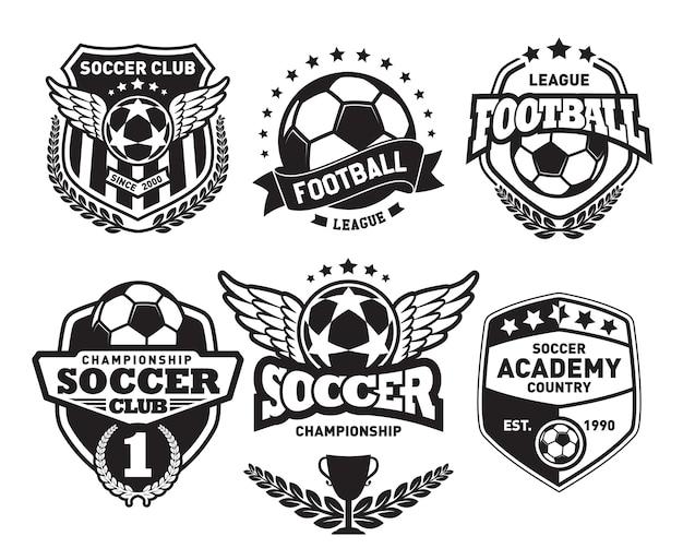 Set fußball logo design vorlagen