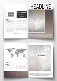 Set geschäftsschablonen für broschüre