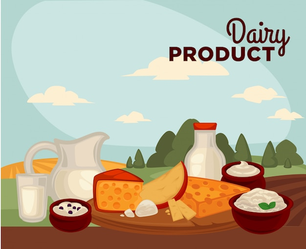 Set gesunde milchprodukte