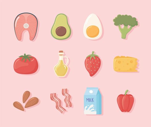 Set gesundes essen