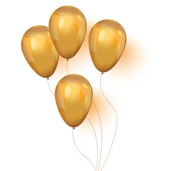 Set glänzende goldene ballone