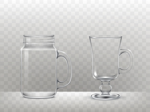 Set gläser, tassen für smoothies