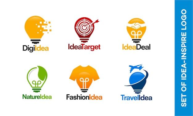 Set glühbirne logos