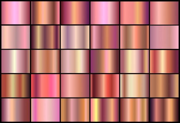 Set goldene rosafarbene steigungen