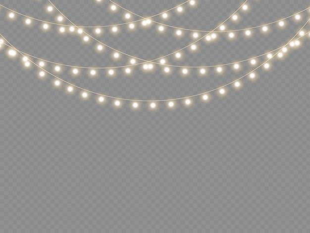 Set goldene weihnachten leuchtende girlande führte neonlampe neujahrsparty weihnachtsbeleuchtung dekoration