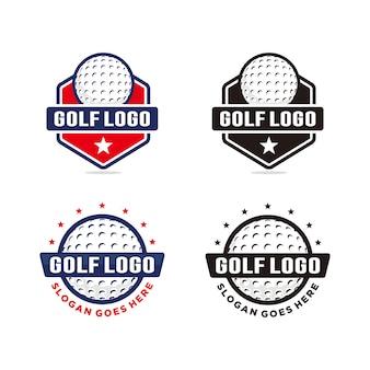 Set golf logo vorlage