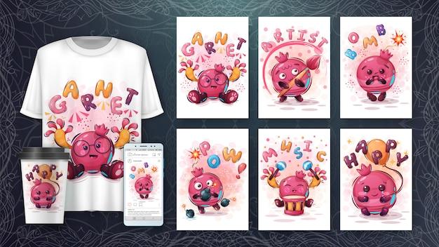 Set granatapfel - poster und merchandising
