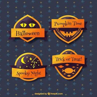 Set halloween-abzeichen