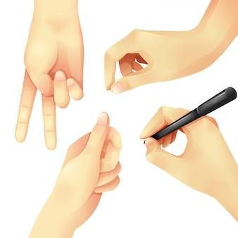 Set hand isoliert vektor