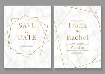 Set Hochzeitseinladungskarten