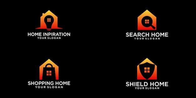 Set home logo design-vorlage