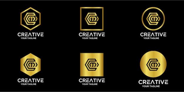Set home-logo kombiniert mit buchstaben cm gold