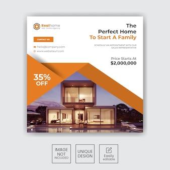 Set-immobilien-haus-verkauf-instagram-social-media-post-design
