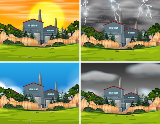 Set industrielle fabrikszenen