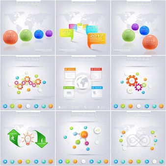 Set infografik für ihr design. kann für workflow-layout, diagramm, diagramm, nummernoptionen und webdesign verwendet werden. vektorillustration