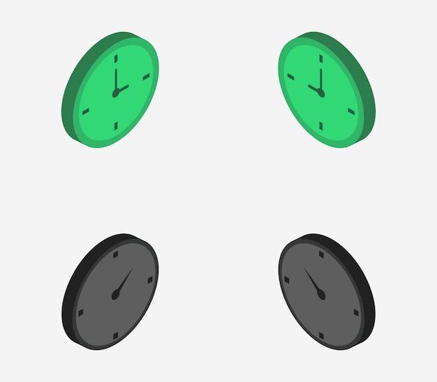 Set isometrische uhren