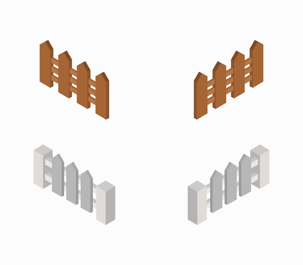 Set isometrische zäune