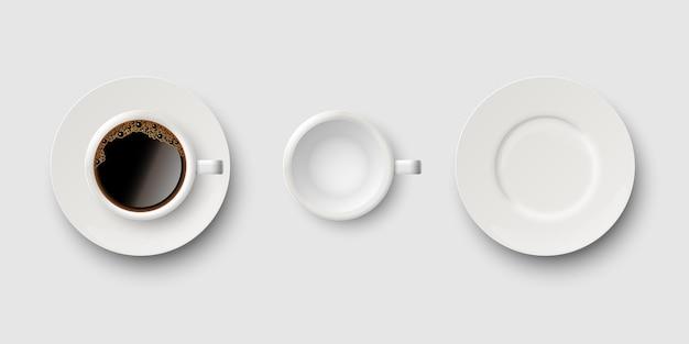 Set kaffeetassen und untertassen