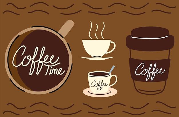 Set kaffeezeittassen