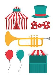 Set karneval cartoons