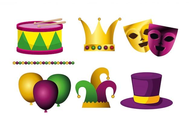 Set karneval dekoration