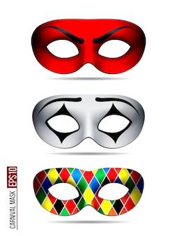 Set karnevalsmaske