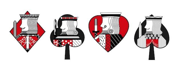 Set kartenkönigkingspielen