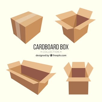 Set kartons zum versand