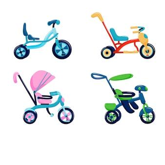 Set kinderfahrräder