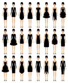 Set kleine schwarze kleider