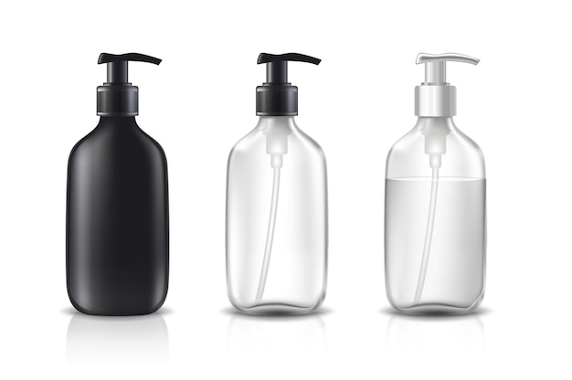 Set kosmetikflaschen