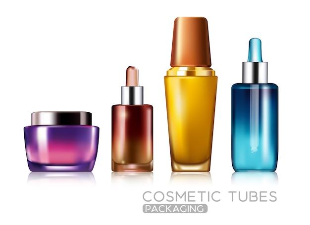 Set kosmetikpaket modell design