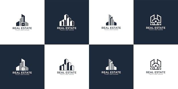 Set kreatives immobilien-logo-bundle