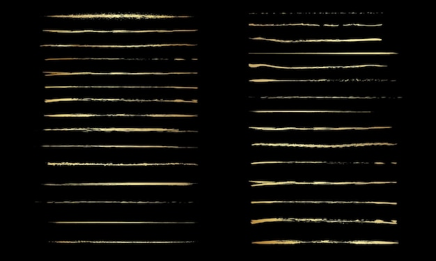 Set künstlerischer stiftbürstendoodlesink-pinselset von vektor-grunge-pinseln sammlung von strichen