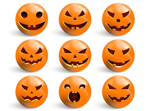Set lächeln für halloween.