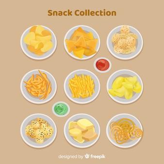 Set leckere snacks
