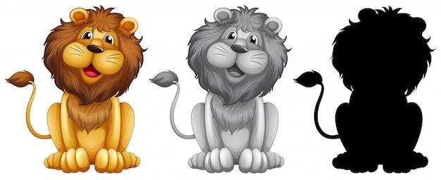 Set löwe-charakter