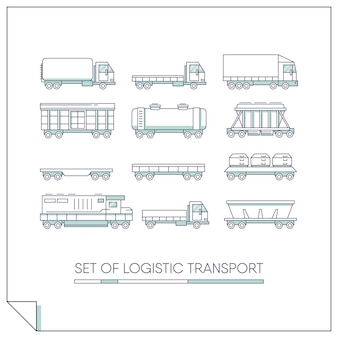 Set logistischer Transport