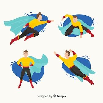 Set lustige superhelden