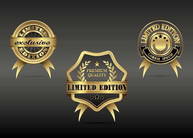 Set luxus gold abzeichen limitierte auflage