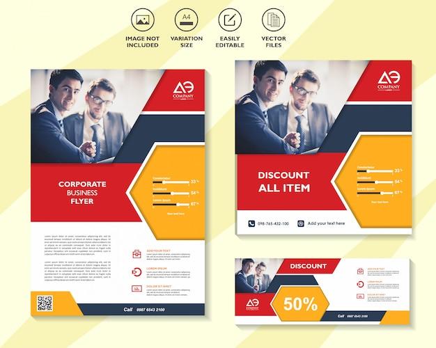 Set mega sale flyer poster oder banner design mit den besten rabattangeboten